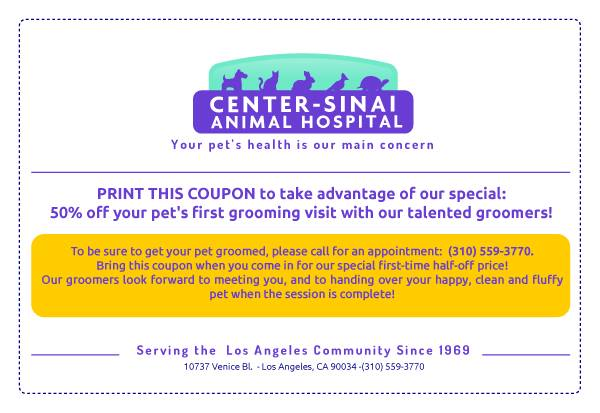 Print Coupon for CSAH Pet Grooming Special Discount!