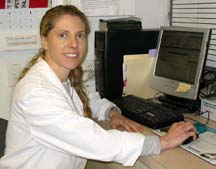 Dr. Amanda Williams in her office at Center-Sinai Animal Hospital