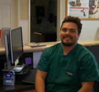 Luis C is one of our top friendly receptionists at Center-Sinai Animal Hospital